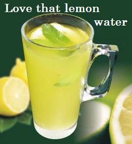 A glass of lemon water