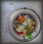 avoid placing food remains in the sink