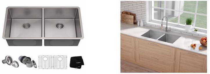 Kraus Standart PRO 33-Inch 16-Gauge Single Bowl Stainless Steel Sink