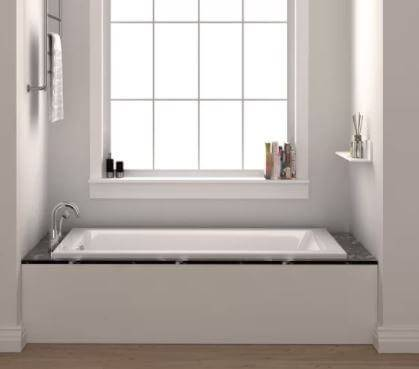Fine Fixtures Drop In White Soaking Bathtub good for aged people