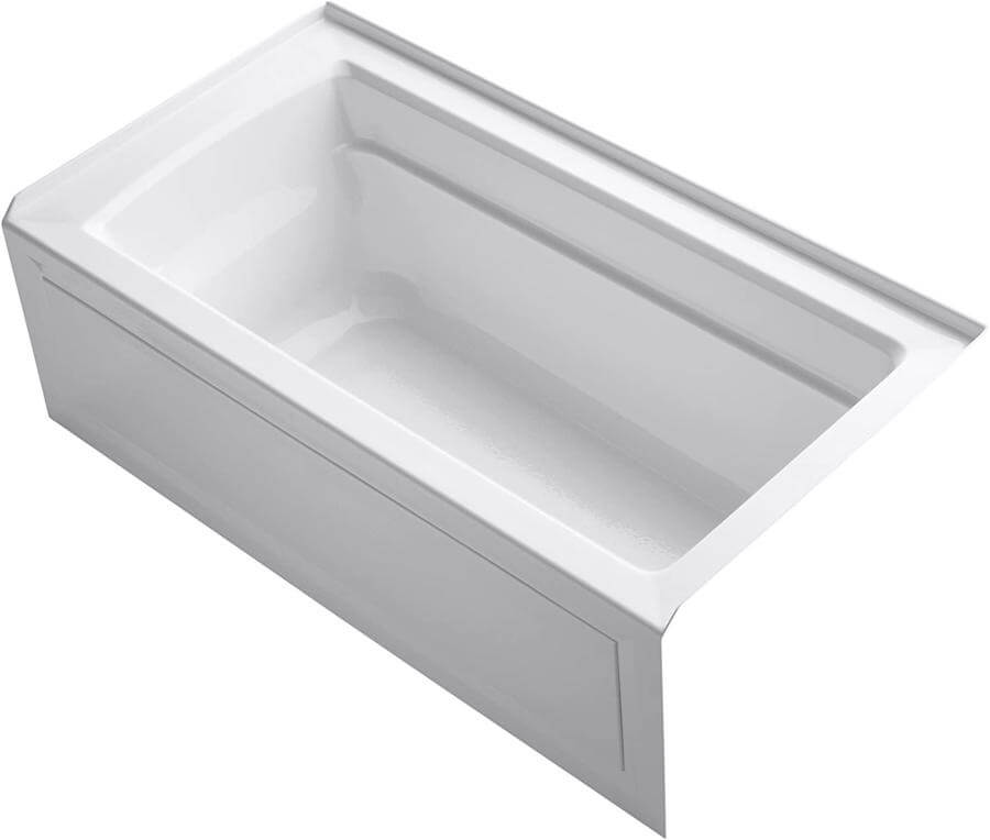 KOHLER K-1123-RA-0 Archer 5-Foot Bathtub for hndicapped people