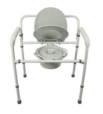 Vive Bariatric a Comfortable Bedside Commode for the elderly