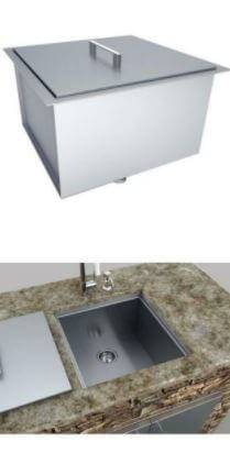 SUNSTONE B-SK20 Height Single Basin Sink with Cover