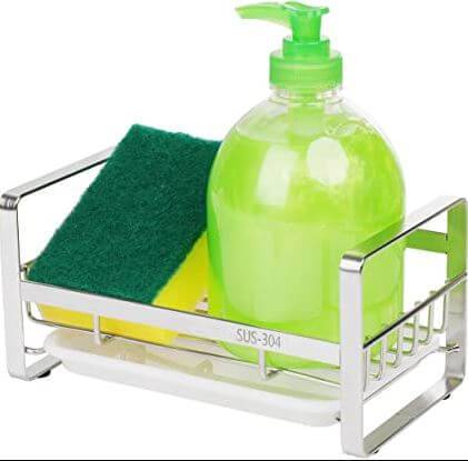 ZionTran Soap and Sponge Holder ideal for both kitchen and bathroom use