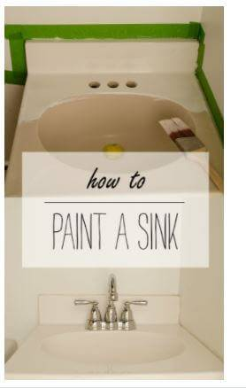 Ho to paint a Sink
